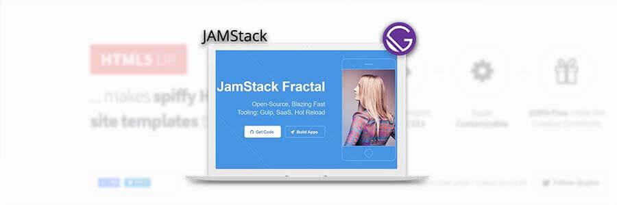 HTML5Up JAMStack Fractal - App Screen Shot.