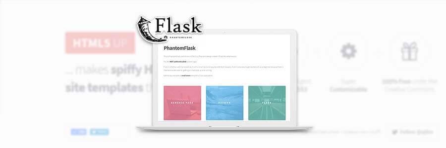 HTML5Up PhantomFlask - App Screen Shot.