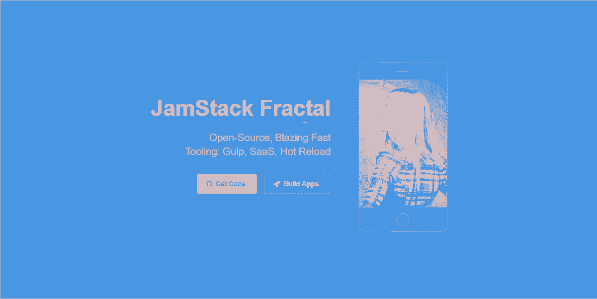 Main Image of HTML5 Up Fractal - Web App coded in JAMstack.
