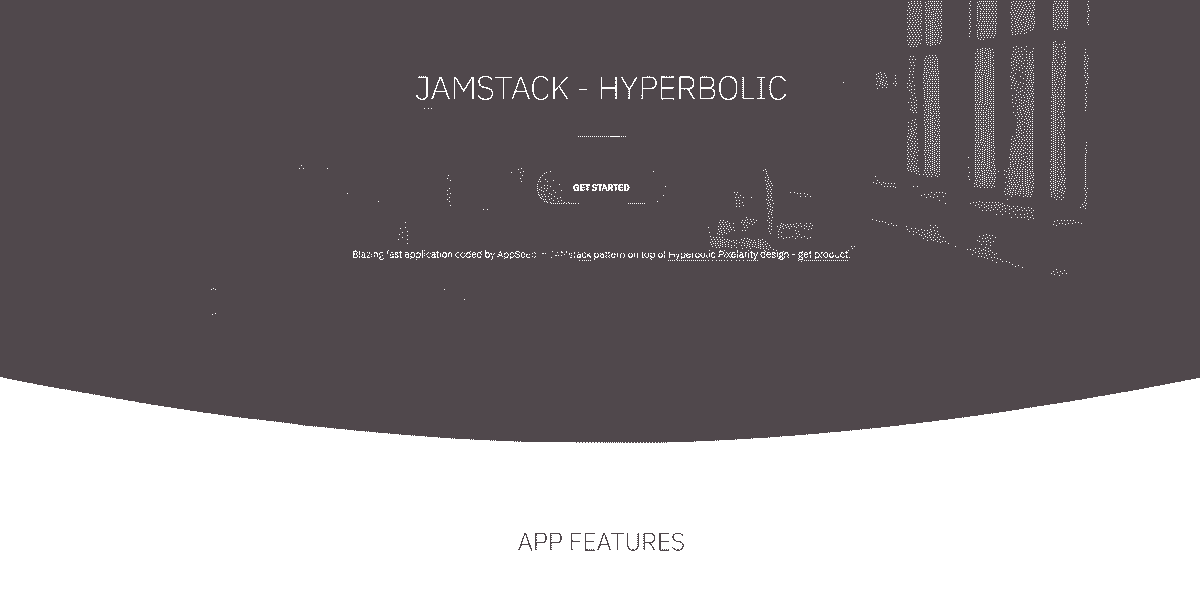 Main Image of JAMStack Hyperbolic - Web App built with Panini Static Generator.