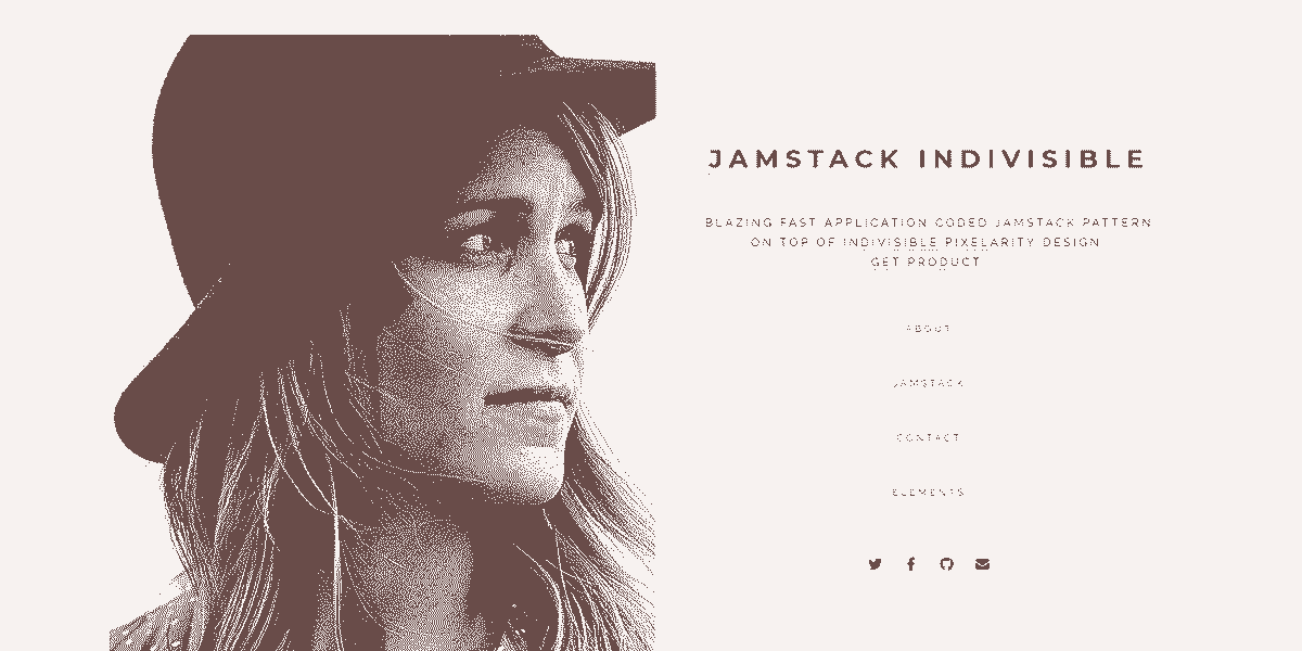 Main Image of JAMStack Indivisible - Web App built with Panini Static Generator.