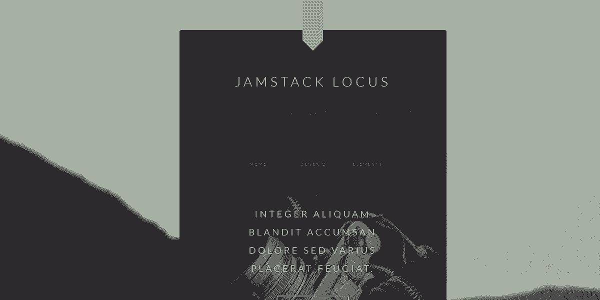 Main Image of JAMStack Locus - Web App built with Panini Static Generator.