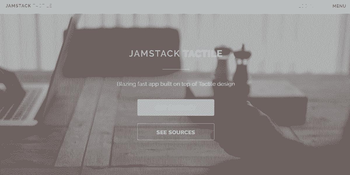 Main Image of JAMStack Tactile - Web App built with Panini Static Generator.