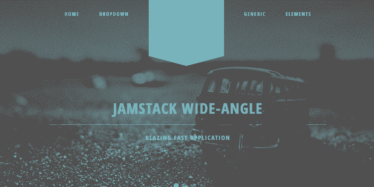 Main Image of JAMStack Wide Angle - Web App built with Panini Static Generator.