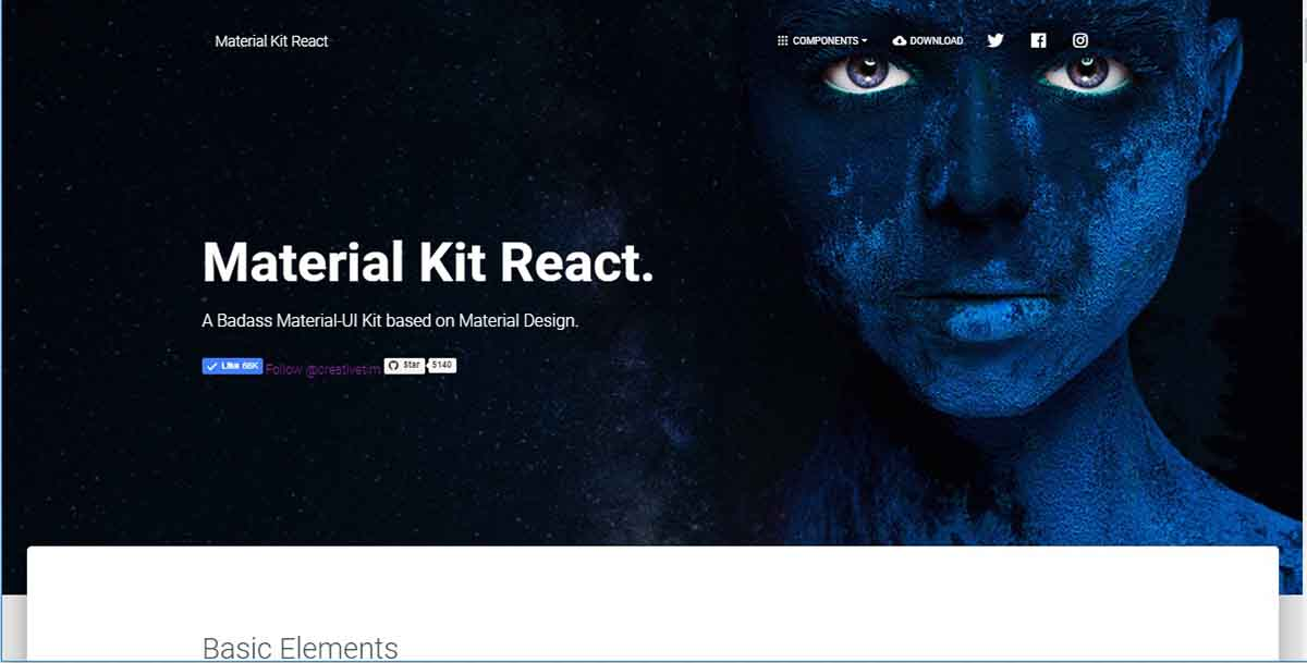 React App Material Kit - App Screen-Shot.