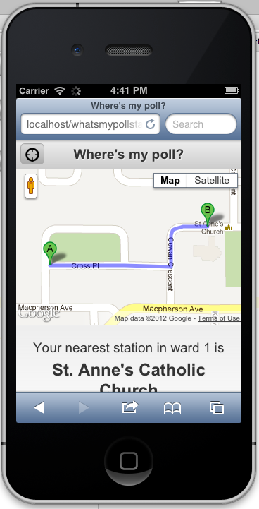 What's My Poll Station Example