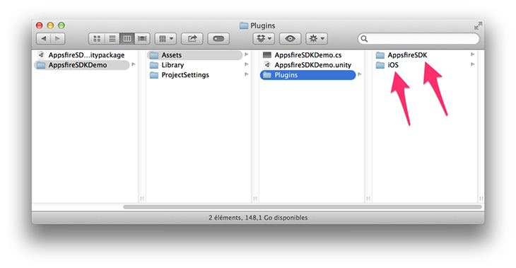 appsfire sdk unity import step 1