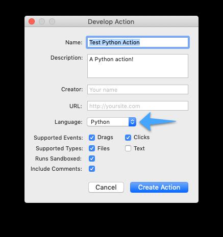 Develop Action