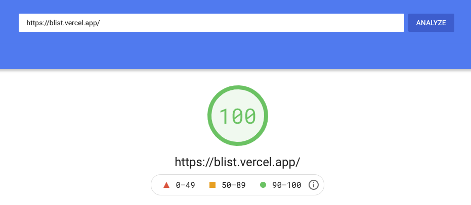 Pagespeed Insights Performance