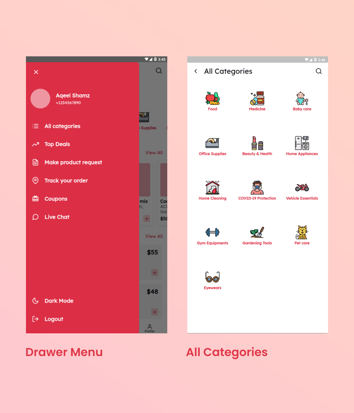 Flutter Grocery App UI Kit - 3