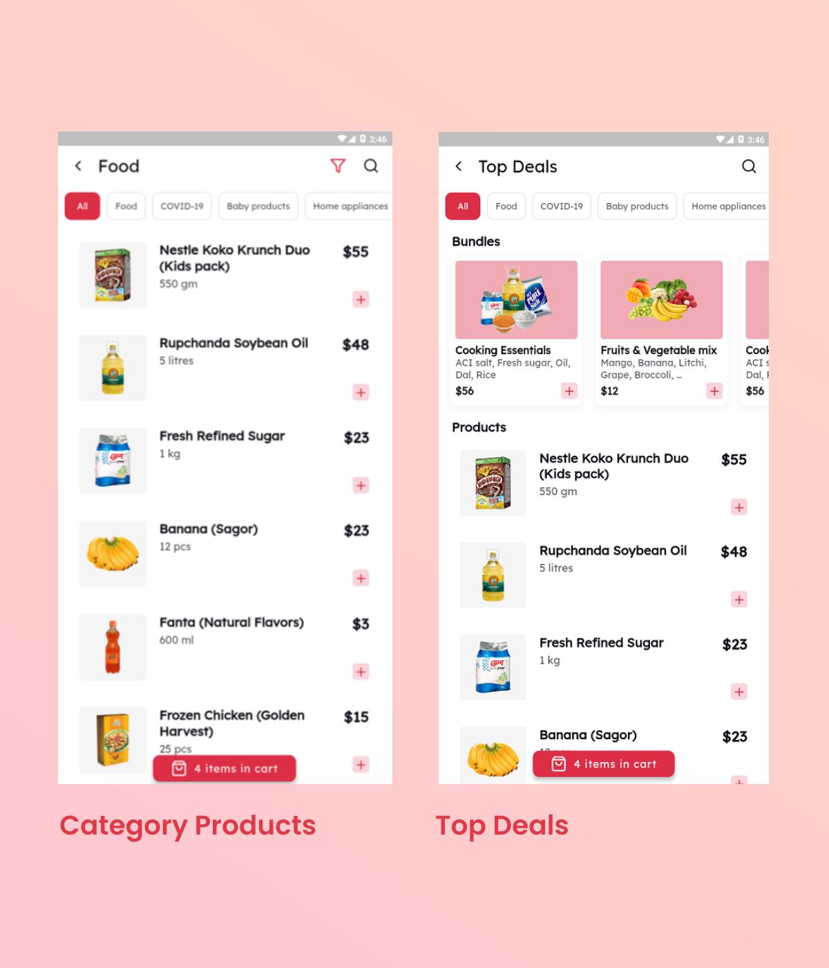 Flutter Grocery App UI Kit - 4