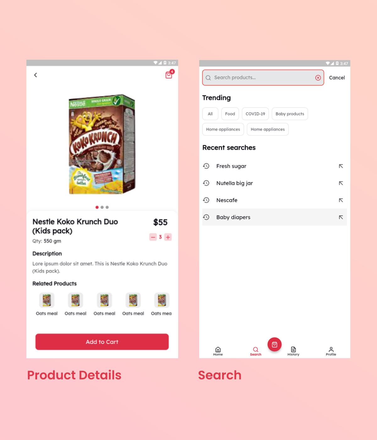Flutter Grocery App UI Kit - 5