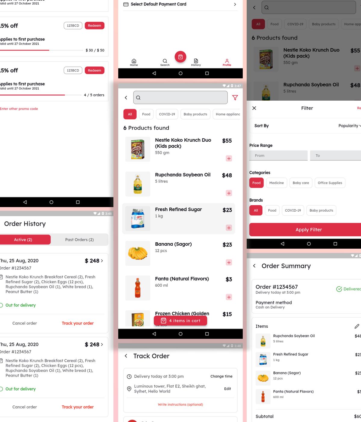 Flutter Grocery App UI Kit - 6