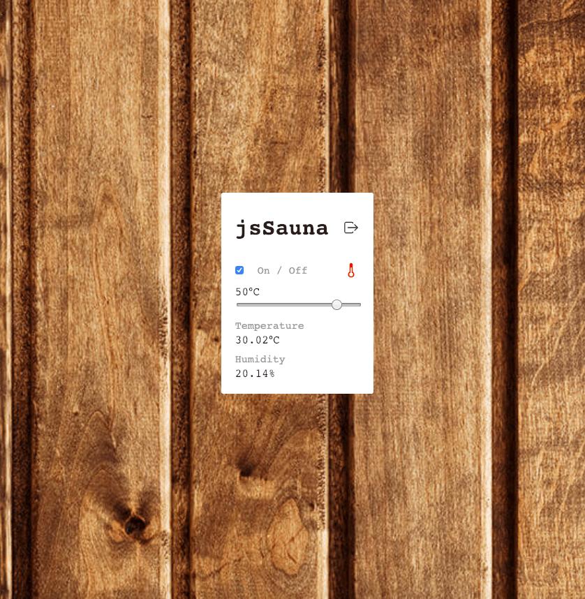 jsSauna - Webapp