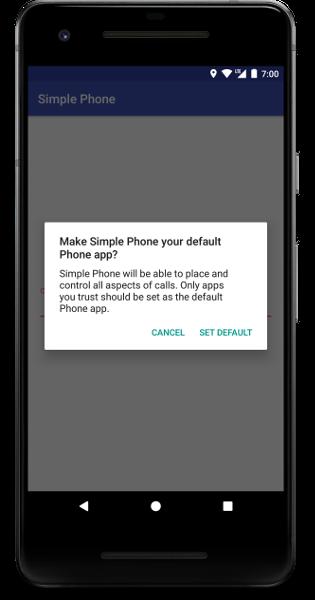 change default dialer dialog