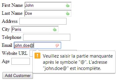 Html 5 validation page Screenshot