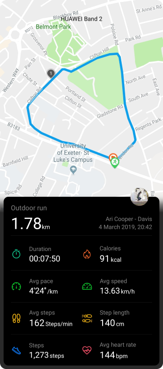 Share exercise data from the Huawei Health app