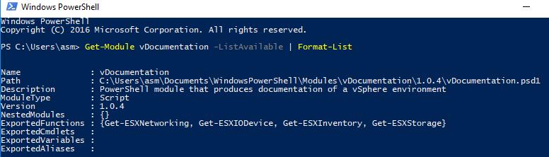 Confirm vDocumentation installation