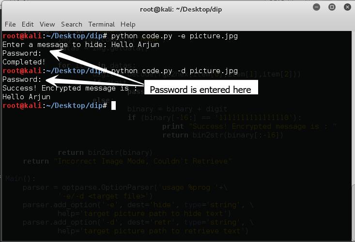 GitHub - arjunsk/Encrypted-Steganography: Image
