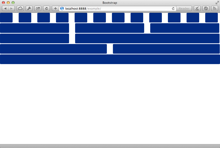 Default Bootstrap grid