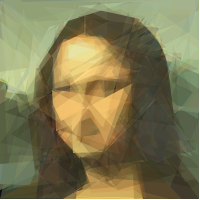 mona-lisa 100 polygons