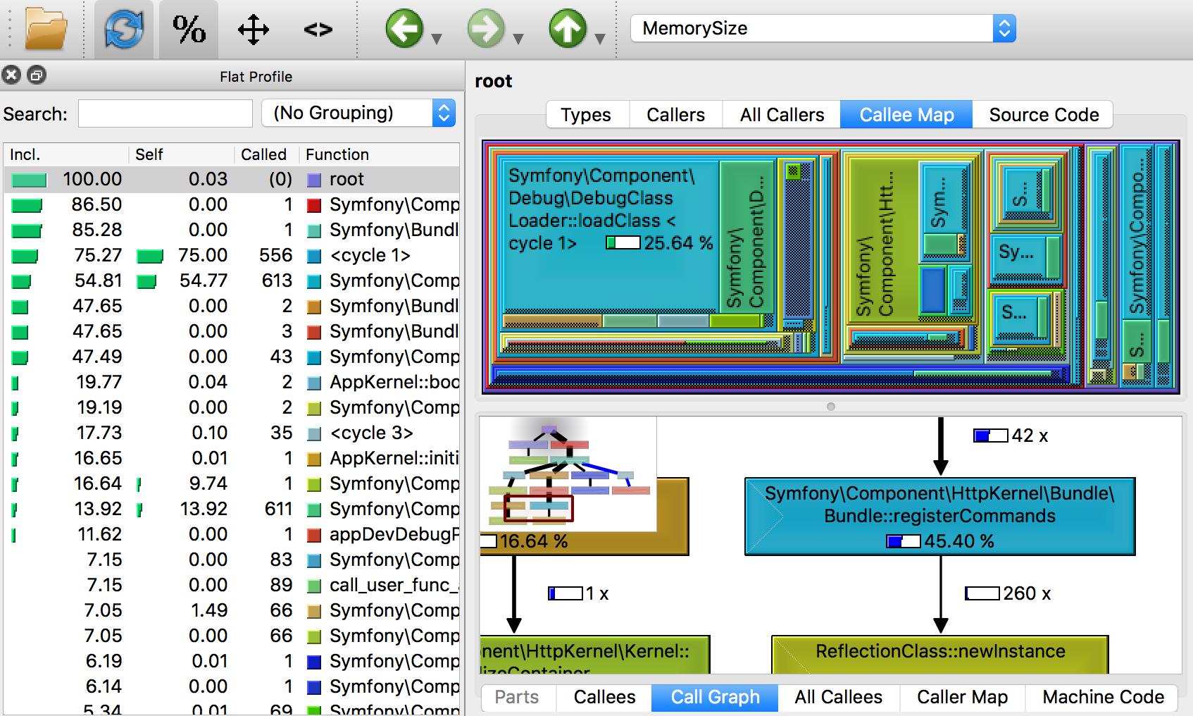 QCacheGrind screenshot