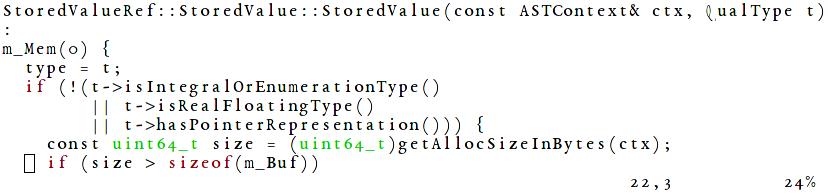 C++ with EB Garamond Mono