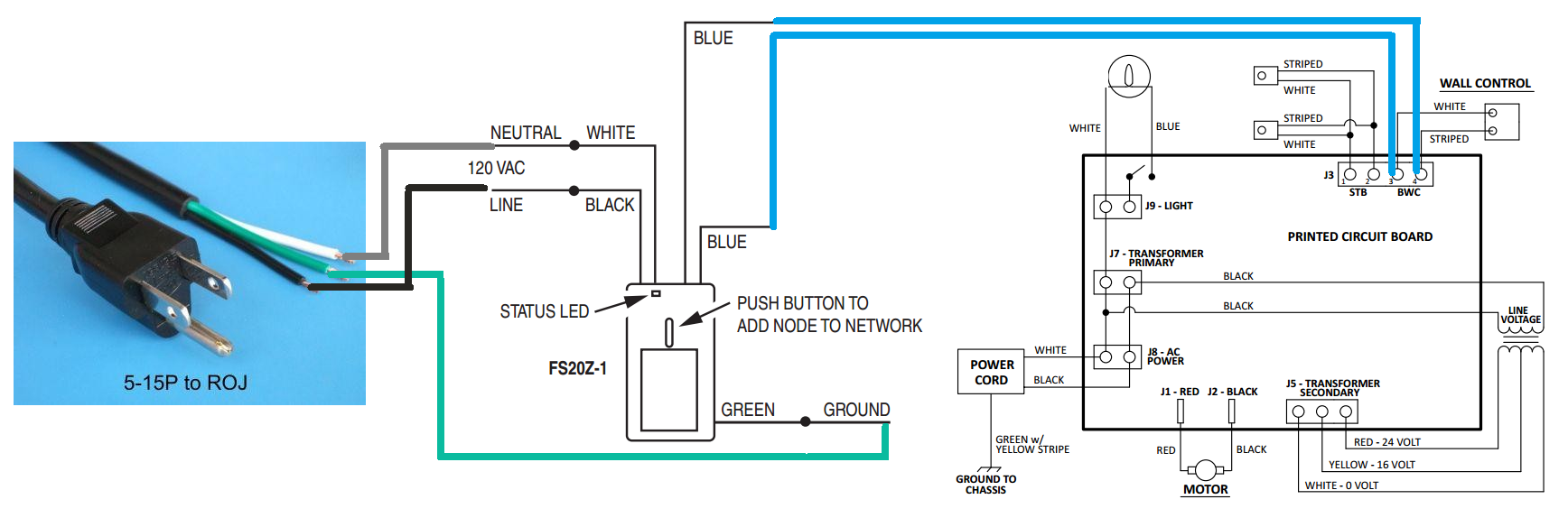 Z-wave Relay wiring