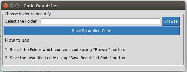 GitHub - arsho/code_beautifier: Code Beautifier is an