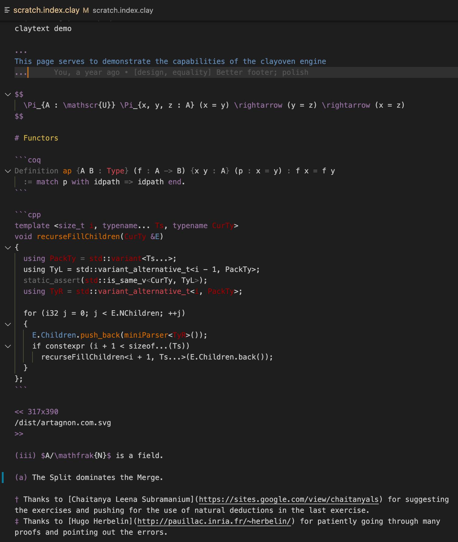 syntax highlighting demo