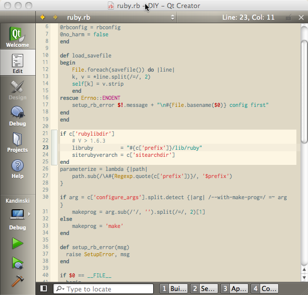 Qt Creator with solarized (light) style