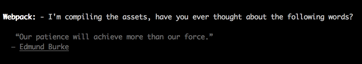 Image of Webpack Quote