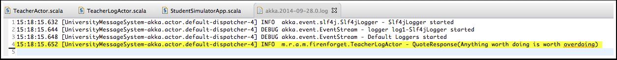 Akka log file