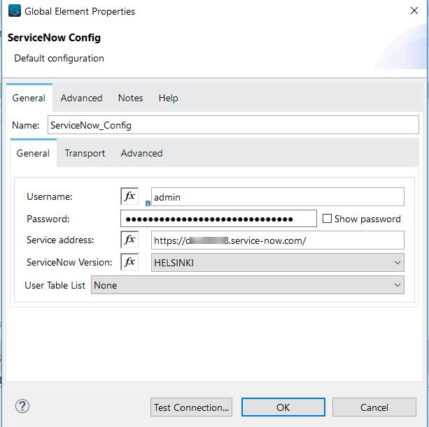 Servicenow Configuration Details