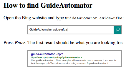 GuideAutomator output