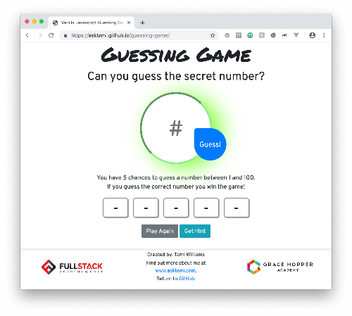 JS Guessing Game
