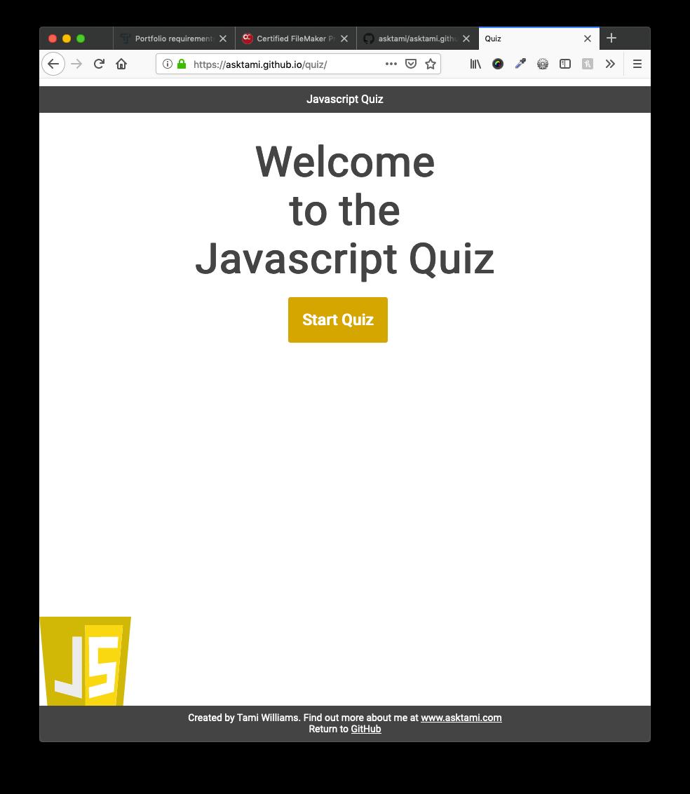 jQuery Quiz screenshot