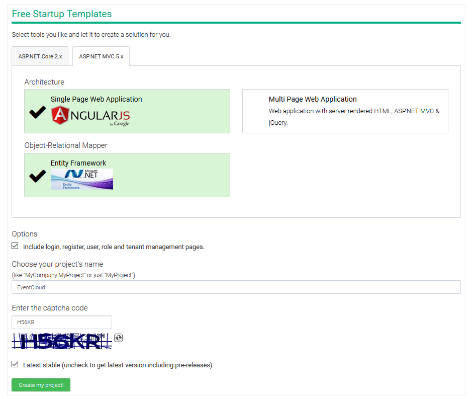 asp net menu templates - asp net boilerplate developing a multi tenant saas
