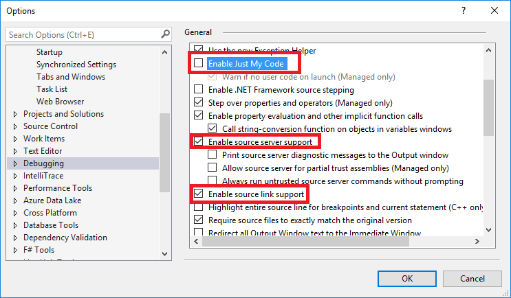 Enable Sourcelink for Visual Studio