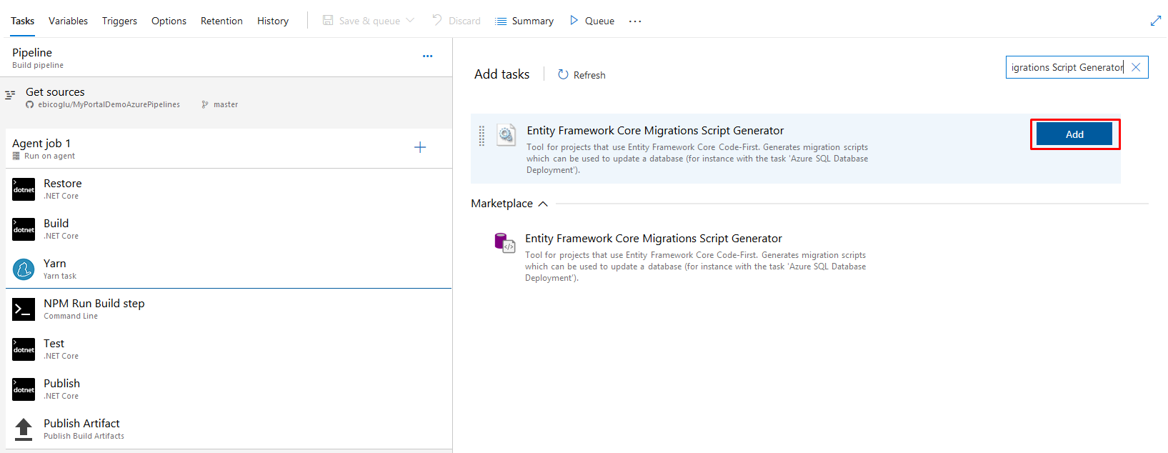 Generate Migration Scripts 2