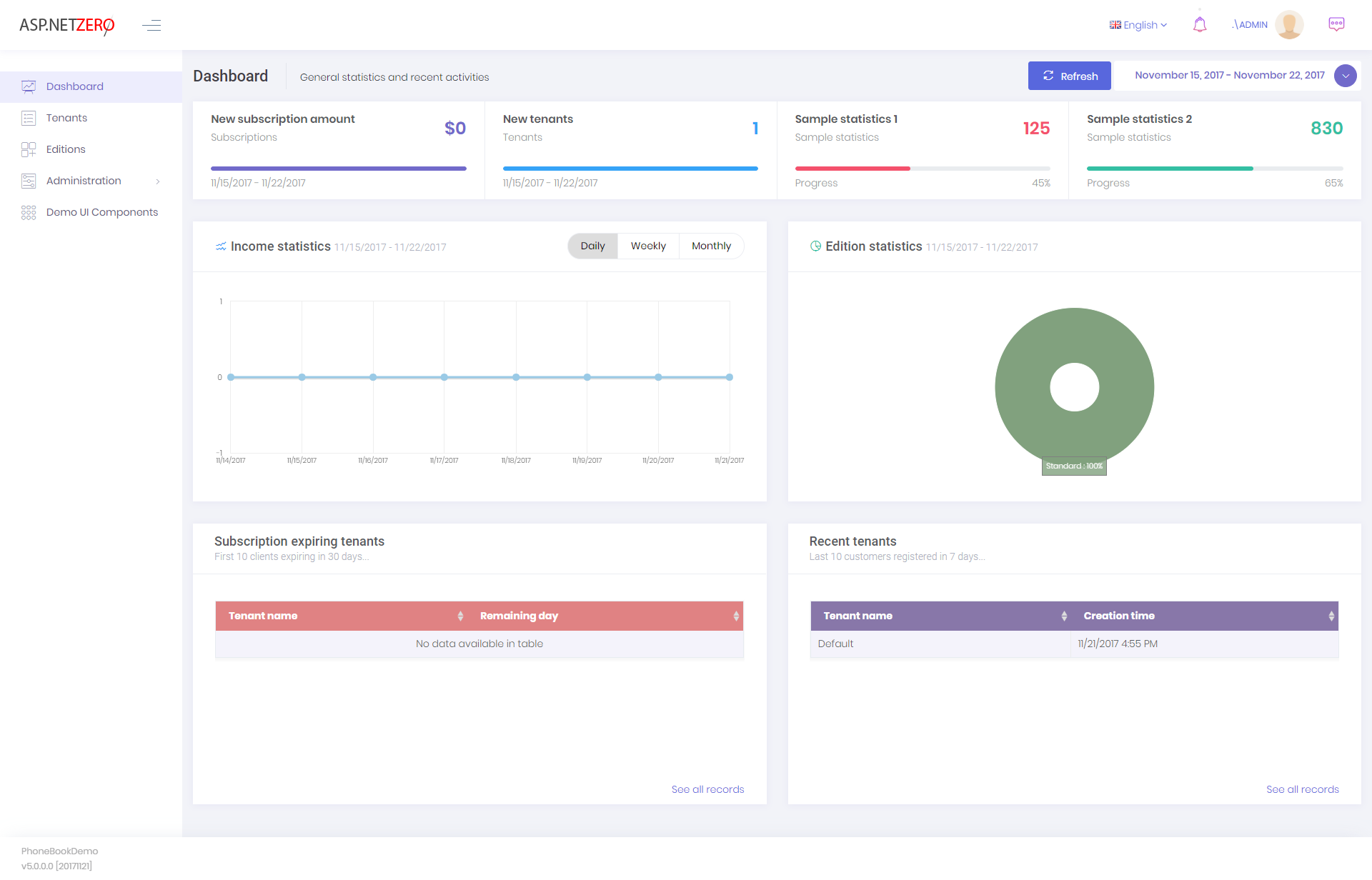 Host dashboard