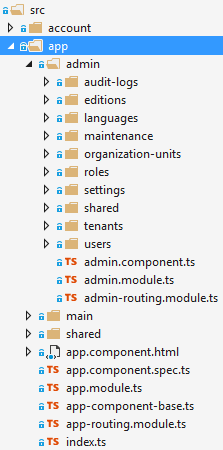 Angular app module files