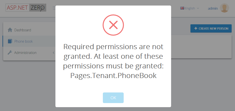 Permission (Authorization) Error