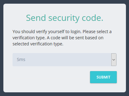 Send security code