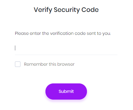Verify security code