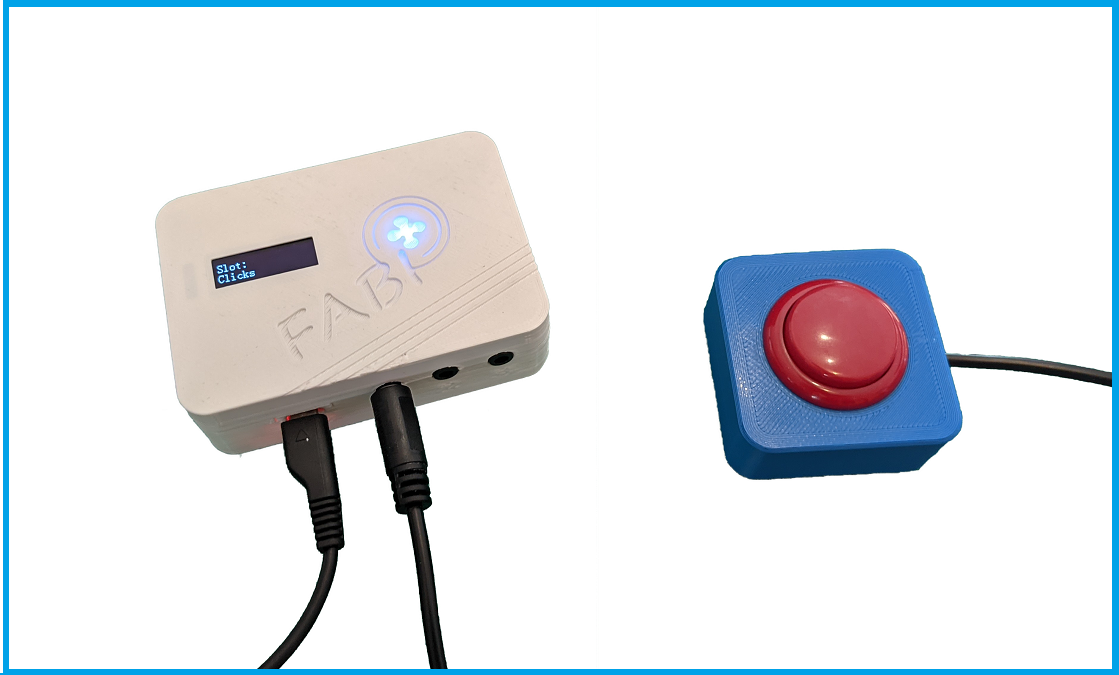 A FABI box with attached 3d-printed switch