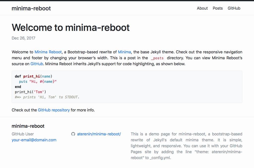 minima theme preview
