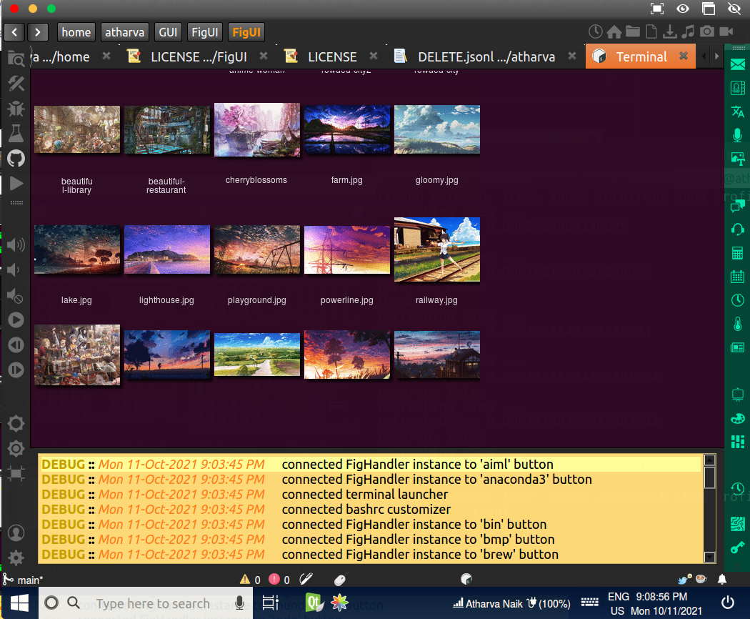Embedded xterm Emulator