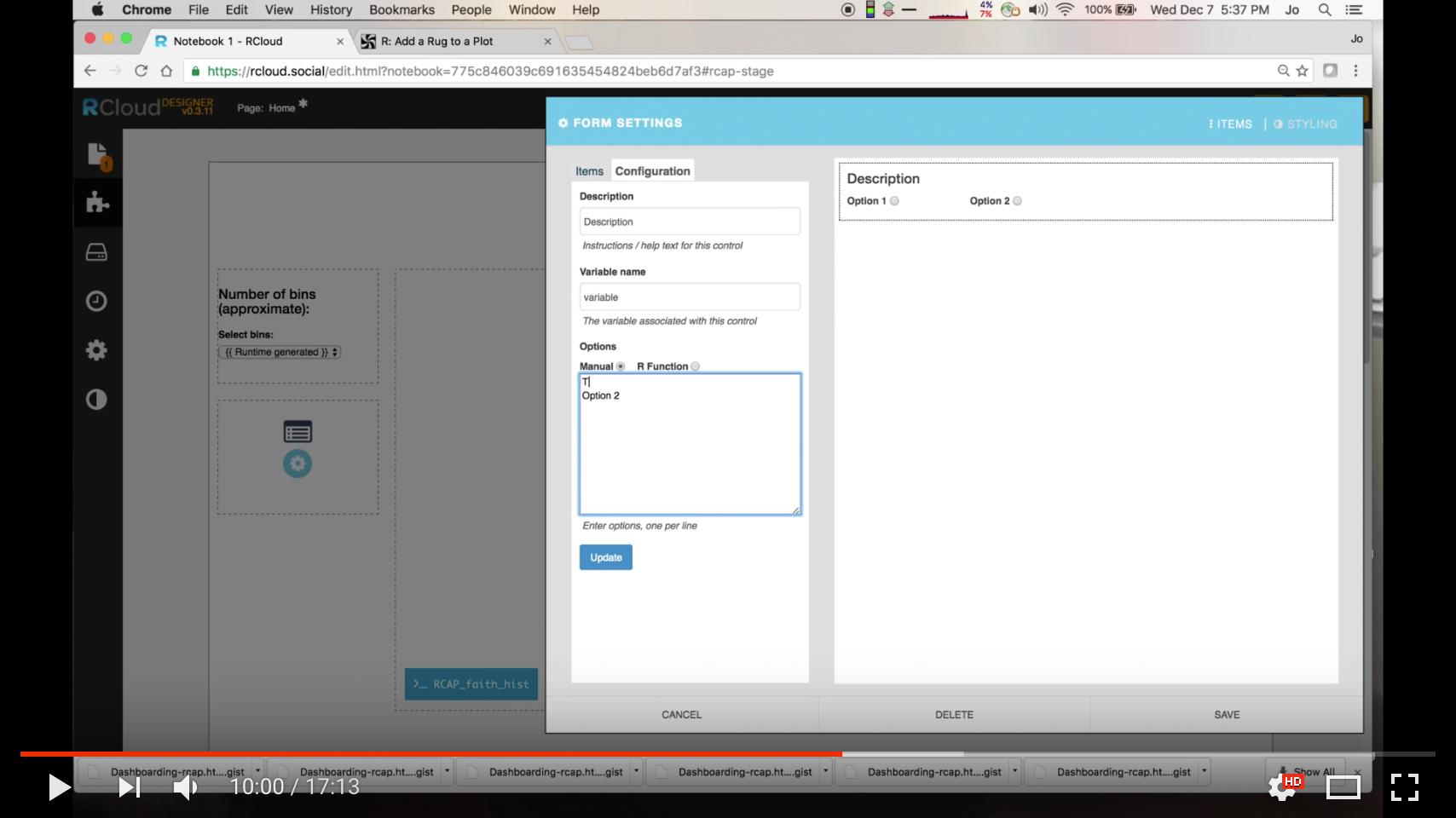 RCAP Example on YouTube