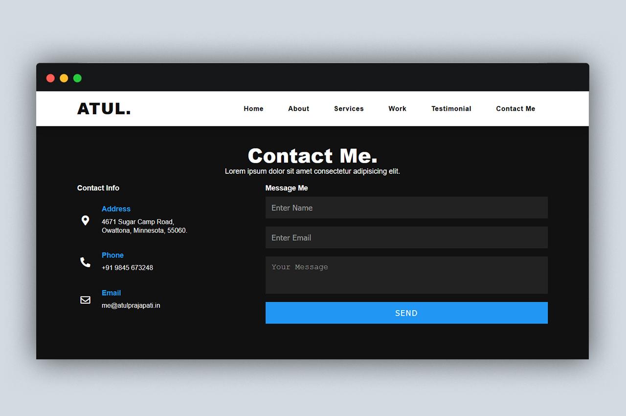 Atul - Portfolio site template